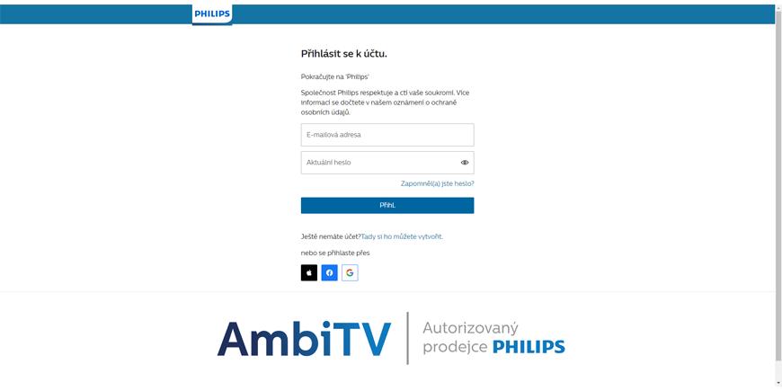 Jak se zaregistrovat na My Philips?